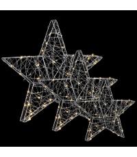 luca lighting Комплект из 3-х декоративных фигурок Three Stars 8718861498493