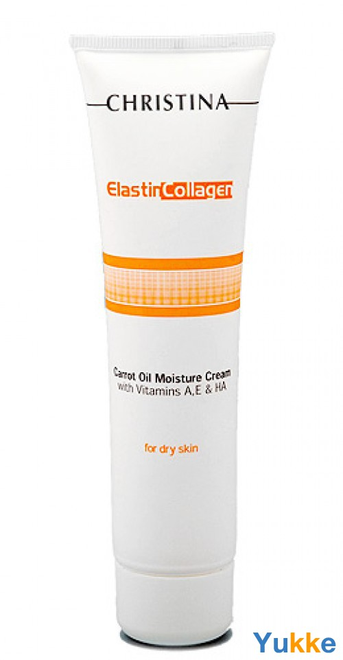 Увлажняющий крем с морковным маслом, коллагеном и эластином / christina moisture cream collagen + carrot oil 100ml.